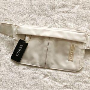 NWT Y2K Guess cream ivory & grey belt bag travel